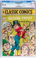 Golden Age (1938-1955):Classics Illustrated, Classic Comics #23 Oliver Twist - Original Edition - Vancouver pedigree (Gilberton, 1945) CGC NM 9.4 White pages....