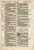 Books:Prints & Leaves, [Antiquarian Bible Leaf]. Leaf from the Second Issue of the KingJames Bible. [Barker, 1611-1613]. Leaf is printed on recto ...