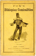Books:Americana & American History, Charles H. Fox. Fox's Ethiopian Comicalities. New York: Dick& Fitzgerald, 1859. First edition. Chapbook in yellow w...