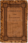 Books:Literature Pre-1900, Sir E. Bulwer Lytton. A Strange Story. New York: Harper& Brothers, 1862. First edition. Custom wrappers with origin...