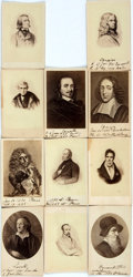 Photography:CDVs, [Carte de Visite]. Eleven Cartes de Visite of Prominent European Men. Manuscript notes in an unknown hand. Very good. From...