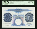 World Paper Money: , Malaya Board of Commissioners of Currency 50 Dollars 1.1.1942 Pick 14. ...