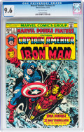 Bronze Age (1970-1979):Superhero, Marvel Double Feature #1 Captain America and Iron Man (Marvel,1973) CGC NM+ 9.6 Off-white pages....