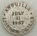 Anguilla, Anguilla: Provisional Government Countermarked Dollar 1967,...