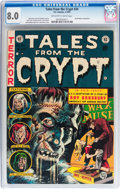 Golden Age (1938-1955):Horror, Tales From the Crypt #34 (EC, 1953) CGC VF 8.0 Off-white to whitepages....