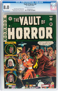 Golden Age (1938-1955):Horror, Vault of Horror #20 (EC, 1951) CGC VF 8.0 Off-white to whitepages....