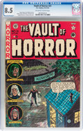 Golden Age (1938-1955):Horror, Vault of Horror #21 (EC, 1951) CGC VF+ 8.5 Off-white to whitepages....