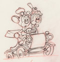 Animation Art:Production Drawing, Nifty Nineties Mickey and Minnie Mouse Production DrawingAnimation Art (Walt Disney, 1941)....