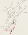 Animation Art:Production Drawing, Sleeping Beauty Dragon Production Drawing Animation Art (Walt Disney, 1959)....