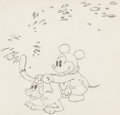Animation Art:Production Drawing, Mickey's Nightmare Production Drawing Animation Art (WaltDisney, 1932)....