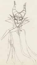 Animation Art:Production Drawing, Sleeping Beauty Maleficent Production Drawing Animation Art (Walt Disney, 1959)....