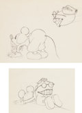 Animation Art:Production Drawing, Mickey's Touchdown Mickey Mouse Production Drawing AnimationArt Group (Walt Disney, 1932).... (Total: 2 Original Art)