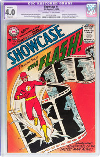 Showcase #4 (DC, 1956) CGC Apparent VG 4.0 Slight (A) Off-white to white pages