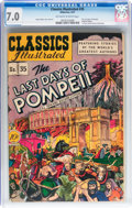 Golden Age (1938-1955):Classics Illustrated, Classics Illustrated #35 The Last Days of Pompeii (Gilberton, 1947)CGC FN/VF 7.0 Off-white to white pages....
