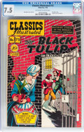 Golden Age (1938-1955):Classics Illustrated, Classics Illustrated #73 The Black Tulip (Gilberton, 1950) CGC VF-7.5 Off-white to white pages....