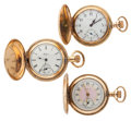 Timepieces:Pocket (post 1900), Waltham & Two Elgin's Hunter Cases Pocket Watches. ... (Total: 3 Items)