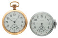 Timepieces:Pocket (post 1900), Two Waltham's 17 Jewels Open Face Pocket Watches Runners. ...(Total: 2 Items)