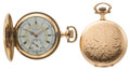 Timepieces:Pocket (post 1900), Two Elgin Hunter's Case Pocket Watches One With A Fancy Dial. ... (Total: 2 Items)