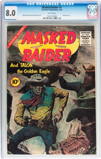 Masked Raider #1 (Charlton, 1955) CGC VF 8.0 White pages