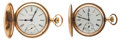 Timepieces:Pocket (post 1900), Waltham 17 Jewel & Elgin 15 Jewel Hunter's Case Pocket Watches Runners. ... (Total: 2 Items)
