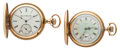 Timepieces:Pocket (post 1900), Two Elgin 17 Jewel Hunter's Case One With A Fancy Dial Pocket Watches Runners. ... (Total: 2 Items)