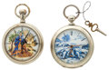Timepieces:Pocket (post 1900), Two Elgin Hand Painted Dials 18 Size Pocket Watches. ... (Total: 2Items)