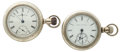 Timepieces:Pocket (post 1900), Waltham & Mermod Jaccard & Co. 18 Size Pocket WatchesRunners. ... (Total: 2 Items)