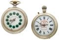 Timepieces:Pocket (post 1900), Two Roskoff Pocket Watches One With A Fancy Dial Runners. ...(Total: 2 Items)