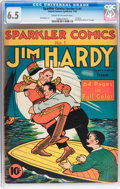 Golden Age (1938-1955):Crime, Sparkler Comics (First Series) #1 Jim Hardy (United Features Syndicate, 1940) CGC FN+ 6.5 Cream to off-white pages....