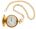 Timepieces:Pocket (post 1900), Seiko Gold Plated Quartz Pocket Watch . ...