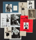 Boxing Collectibles:Autographs, Collection of 10 Signed Boxing Photographs With Gene Tunney, Floyd Patterson & Young Corbett. ...