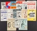 Boxing Collectibles:Memorabilia, 1944-73 Boxing Fight Programs Lot of 15 - With Marciano Vs. Walcott....