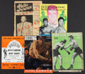 Boxing Collectibles:Memorabilia, 1929-65 Boxing Fight Programs Lot of 5....