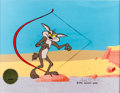 Animation Art:Production Cel, Chariots of Fur Wile E. Coyote Production Cel Setup Signedby Chuck Jones (Warner Brothers, 1994)....
