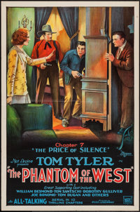 """The Phantom of the West (Mascot, 1931). One Sheet (27"""" X 41"""") Chapter 7 -- """"The Price of Silence."""" S..."""