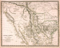 "Books:Maps & Atlases, [Maps]. Early Map of Texas and Its Environs. London: Chapman andHall, 1842. With hand-colored borders. Measures about 16"" x..."
