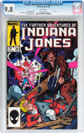Modern Age (1980-Present):Miscellaneous, The Further Adventures of Indiana Jones #34 (Marvel, 1986) CGC NM/MT 9.8 White pages....