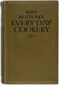 Books:Food & Wine, [Isabella Beeton]. Mrs. Beeton's Everyday Cookery. London:Ward, Lock, [n.d. ca. 1936]. Publisher's olive-colored cl...