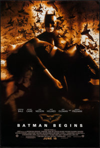 "Batman Begins (Warner Brothers, 2005). One Sheet (27"" X 40"") DS Advance Style D. Action"
