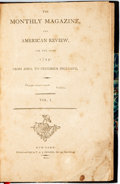 Books:Americana & American History, [Americana]. The Monthly Magazine, and American Review, for theYear 1799. New York: T. and J. Swords, 1800. Modern ...