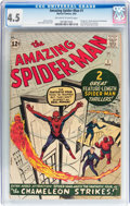 Silver Age (1956-1969):Superhero, The Amazing Spider-Man #1 (Marvel, 1963) CGC VG+ 4.5 Off-white to white pages....