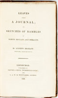 Books:Travels & Voyages, Andrew Bigelow. Leaves from a Journal; or Sketches of Rambles in North Britain and Ireland. Edinburgh: Oliver & Boyd...