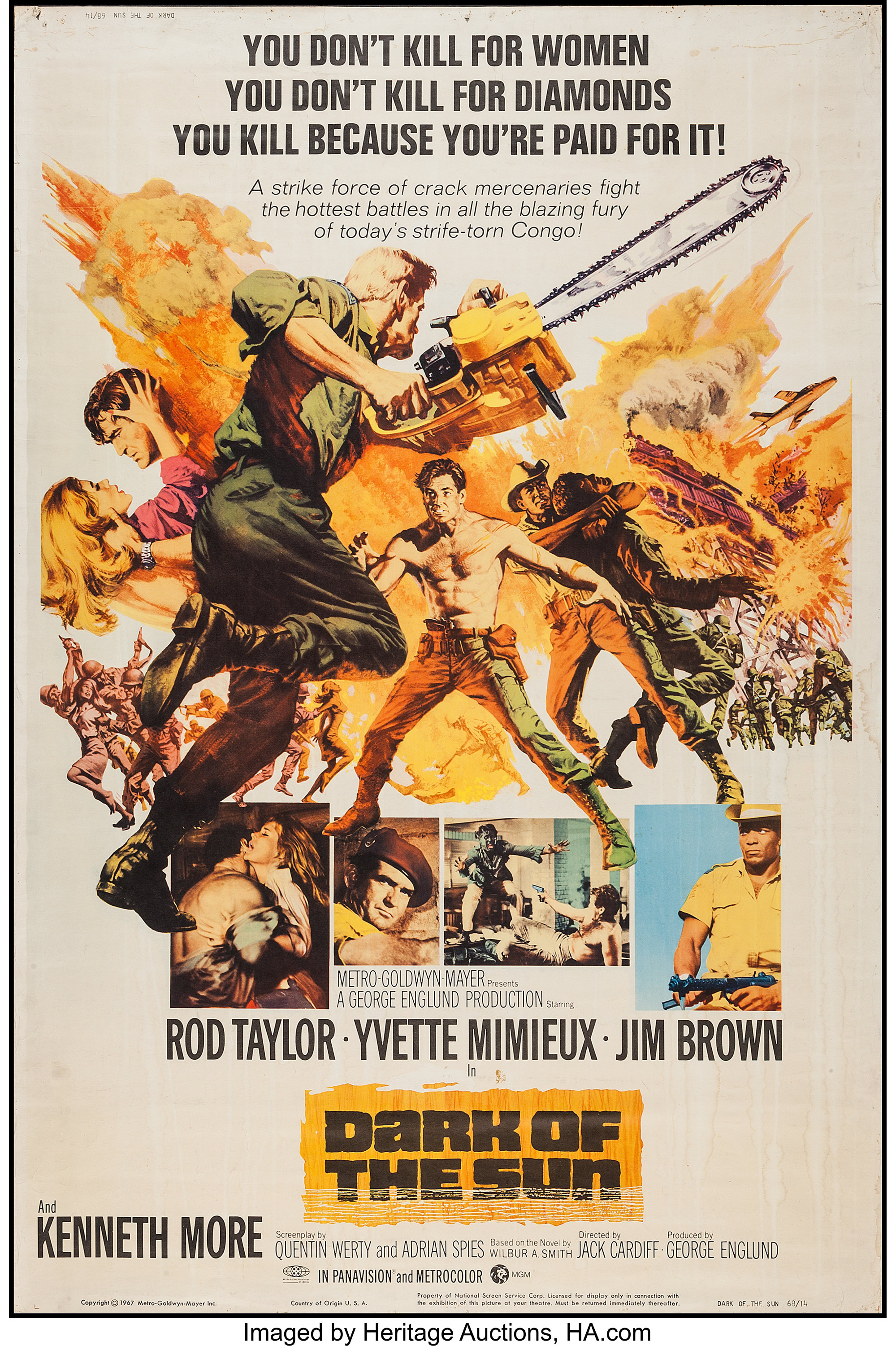 "Dark of the Sun and Other Lot (MGM, 1968). Posters (2) (40"" X 60 ..."