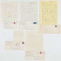 Boxing Collectibles:Autographs, 1950's-60's Packey O'Gatty Signed Letters and Envelopes Lot of 5....