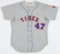 Baseball Collectibles:Uniforms, 1973 Tidewater Tides Game Worn Jersey....