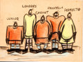 Animation Art:Production Drawing, Hockey Homicide Hockey Team Story/Concept Art (Walt Disney,1945)....