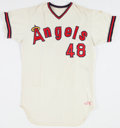 Baseball Collectibles:Uniforms, 1975 Bill Singer Game Worn California Angels Jersey. ...