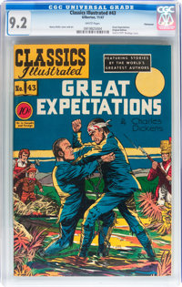 Classics Illustrated #43 Great Expectations - Original Edition - Vancouver pedigree (Gilberton, 1947) CGC NM- 9.2 White...
