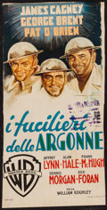 "Movie Posters:War, The Fighting 69th (Warner Brothers, 1948). Italian Locandina (11.5""X 23""). War.. ..."