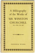Books:Reference & Bibliography, [Bibliography]. Frederick Woods. A Bibliography of the Works ofWinston Churchill. London: Nicholas Vane, [1963]. Fi...